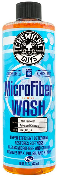 Bottle of Chemical Guys Microfiber Wash for Cleaning Towels