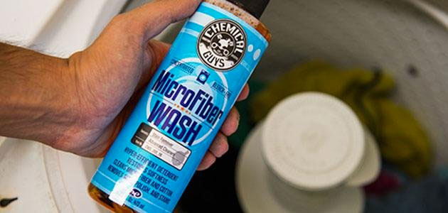 Add Microfiber Wash to Washing Machine to Clean Microfiber Towels after Washing Car