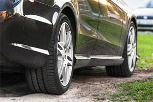 Clean Shiny Black Car