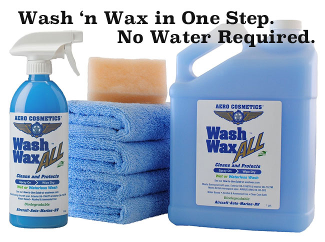 Waterless Wash and Wax Kit with Towels and Scrubber