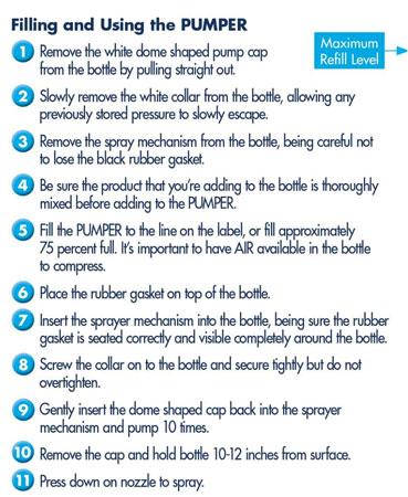 Dri Wash N Guard Waterless Car Wash Instructions for Spray Pump