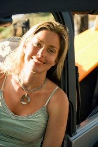 Woman Driving an SUV